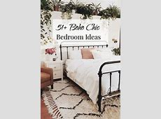 51  Boho Chic Bedroom Ideas   plant filled nature inspired