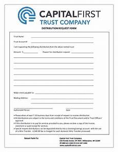 trust distribution receipt form fillable printable online forms templates to download in pdf