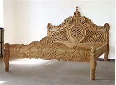 bett antik holz doppelbett 160 x 200 cm barock ehebett natur holz bett