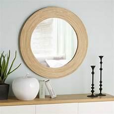 ronde spiegel bamboe d 98 cm maisons du monde miroir