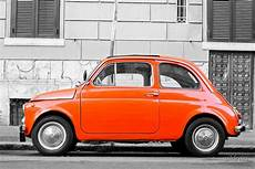 quot orange fiat 500 in rome italy quot by wildrain redbubble