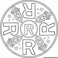 Ausmalbilder Buchstaben R Buchstabe R Mandala Vorlage Gratis Ausdrucken