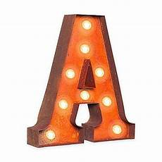 buy vintage retro lights signs metal letter quot a quot light up wall art from bed bath beyond