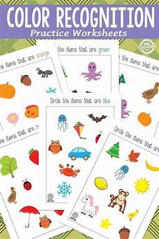 color recognition printables printable activities for kids teaching colors preschool colors