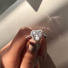 fashion crystal heart shaped wedding rings s zircon