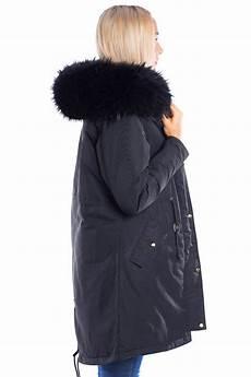 parka mit fellkapuze schwarz fashion style