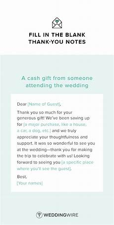 Thank You Letter For Wedding Gift Of Money
