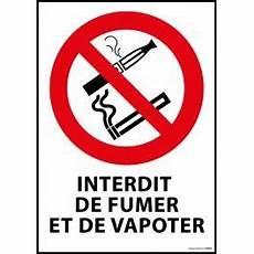 affiche défense de fumer panneau interdiction de fumer et vapoter