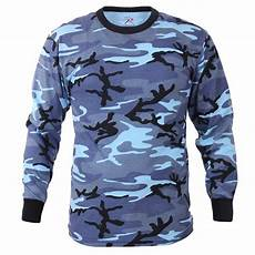 s sleeve sky blue camo t shirt