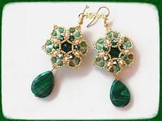 orecchini fiore orecchini fiore barocco smeraldo con superduo
