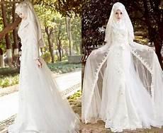 Gaun Pengantin Simple Tapi Elegan Untuk Muslimah