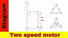 wiring diagram for two speed motor 3ph 2 speed motor youtube