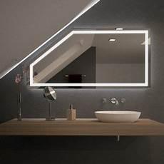 spiegel f 252 r dachschr 228 mit led beleuchtung fiola