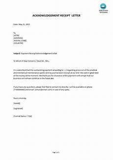 sle payment receipt acknowledgement letter templates at allbusinesstemplates com