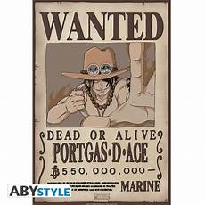 one poster wanted ace 52x35cm abystyle