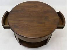 runde couchtische runder couchtisch aus massivem teakholz d 80 cm tische