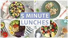 schnelle rezepte mittagessen easy 5 minute lunch recipes healthy lunch ideas