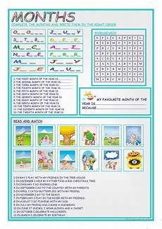 months and seasons activities worksheets 14767 months and seasons worksheet free esl printable worksheets made by teachers