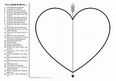 fill your heart worksheet creative writing blog