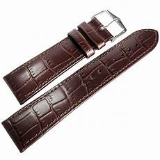 20mm Leather Band by 20mm Hirsch Louisiana Brown Alligator Grn Leather