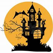 Royalty Free Silhouette Of A Haunted House 383500 Vector