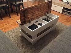 Tafel Selber Bauen - wood pallet coffee table with storage pallet ideas