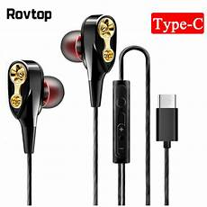 Type Wired Earphone Bass by Wired Earphone High Bass Dual Drive Stereo In Ear