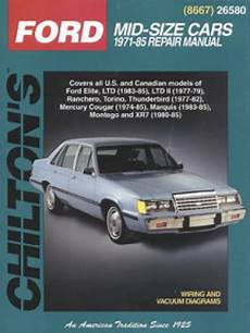 free online car repair manuals download 1985 mercury lynx seat position control chilton ford mercury mid size cars 1971 1985 repair manual