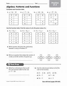 patterns and algebra worksheets pdf 22 algebra patterns and functions practice worksheet for 6th 7th grade lesson planet