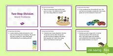 ks2 maths word problem worksheets 11383 ks2 two step division word problems maths challenge cards ks2 key stage 2
