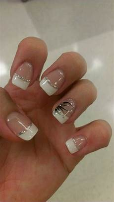 white tips with design white tip nails white tip nail