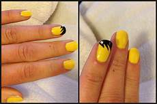 black and yellow nail art yellow nails