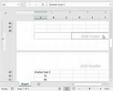 insert page numbers in excel easy excel tutorial