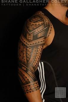 Shane Tattoos Polynesian Sleeve Tatau
