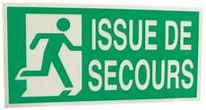 panneaux avec texte quot issue de secours quot gauche et droite