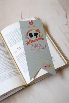 diy printable bookmark thank you card library book