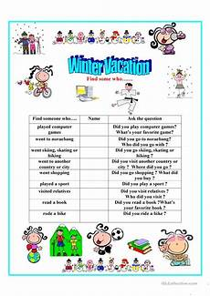 winter vacation find someone who worksheet free esl printable worksheets made by teachers