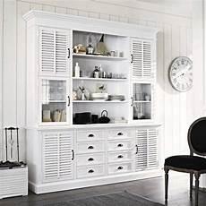 chiffonnier maison du monde vaisselier en bois blanc cottage club vaisselier maisons