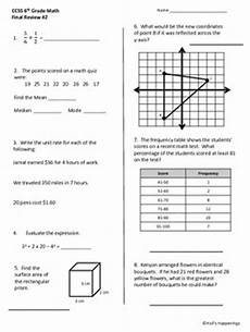 science review worksheets 6th grade 12383 6th grade common math review worksheets by