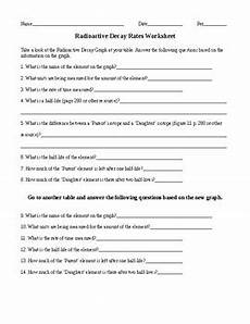 physical science radioactivity worksheet 13172 radioactive decay rates worksheet by ian keith tpt