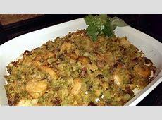 cornbread stuffing w shrimp   andouille  cajun creole zwt 9_image