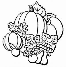 Ausmalbilder Obst Herbst Autumn Season Fruit Coloring Page Color