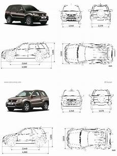 suzuki grand vitara fiche technique dimensions