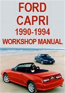 car repair manuals online free 1994 mercury capri parental controls ford capri convertible 1990 1994 service manual