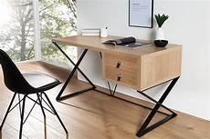 Exklusiver Design Schreibtisch Heritage Eiche 2 Schubladen