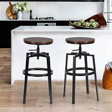 sgabelli in metallo set 2 sgabelli bar cucina design vintage in legno e