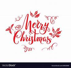merry christmas lettering royalty free vector image