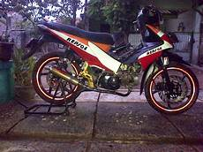 Modifikasi Motor Honda Revo Absolute by Modifikasi Motor Honda Revo Absolute Konsep Racing