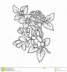 outline vintage flowers bouquet or pattern stock vector illustration of antique flora 93602595