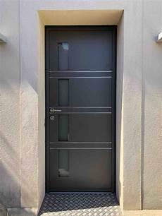 mise en place d une porte d entr 233 e aluminium k line sur